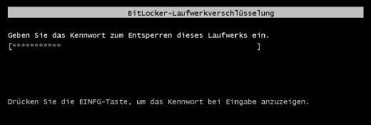 Die BitLocker-Laufwerksverschlüsselung sichert die Datenträger ab.