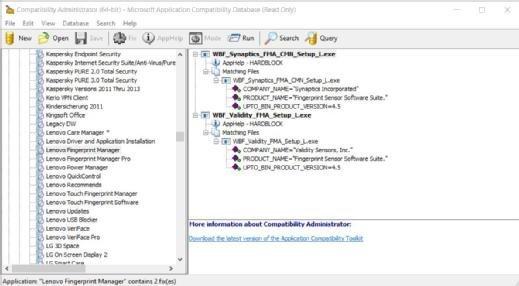 Der Compatibility Administrator bringt für zahlreiche Anwendungen bereits fertige Shims mit.