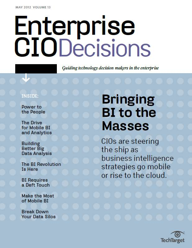 BI and big data: Enterprise CIO Decisions Vol. 13