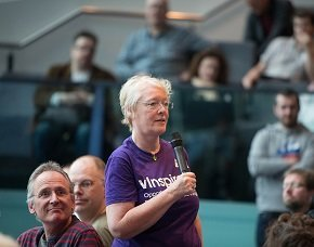 Mary McKenna, MBE from @tasksquadhq participating in UKGovCamp14