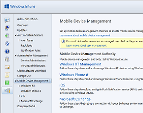 Microsoft InTune screen shot
