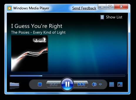 Windows 7 - Lightweight Windows Media Player