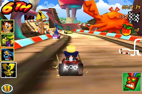 Crash Bandicoot: Nitro Kart 3d - Apple iPhone