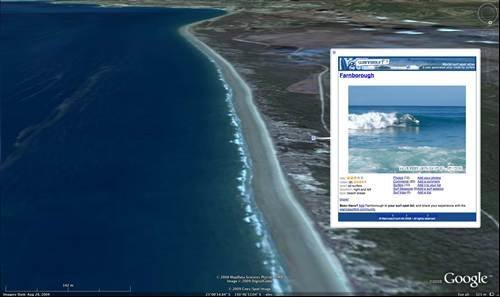 Google Earth: Surfing at the Great Barrier Reef in Australia