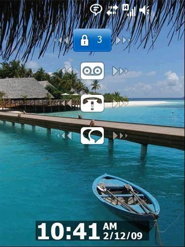 Windows Mobile Phone locked screen