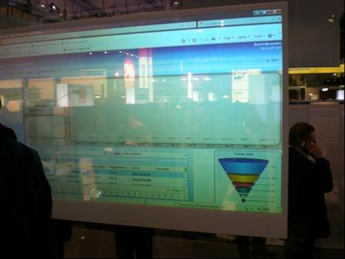 Microsoft's transparent screen - CeBIT 2009