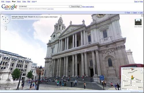 Google Street View - St Pauls Cathedral