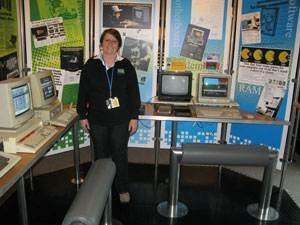 Lin Jones, project leader for the National Computing Museum, in the personal computer gallery.
