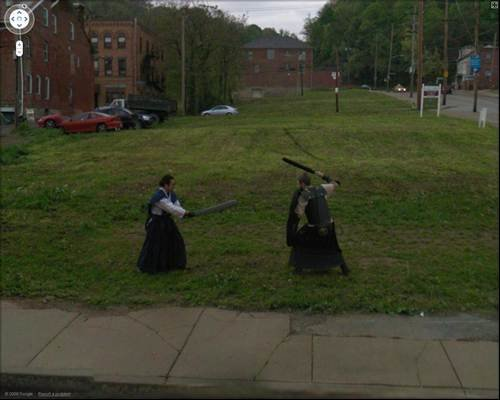 Battle to the death - Its a funny old world according to Google Street View