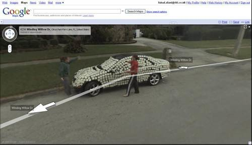 Post it prank - Its a funny old world according to Google Street View