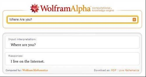 Where are you? - Wolfram Alpha hidden messages