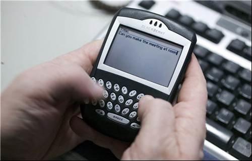 Hornbill BlackBerry interface - Red Cross operations