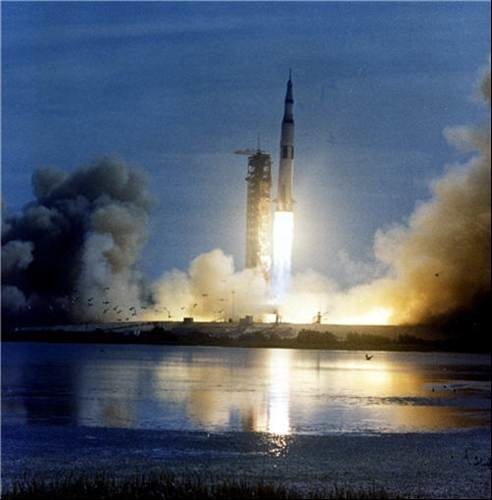 Apollo 11 Saturn V take off