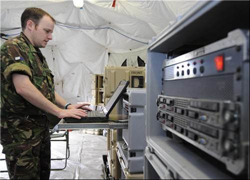 Containerised data centre - MoD demo latest in military information technology