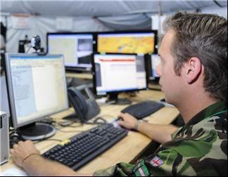 Helmand task force - MoD demo latest in military information technology