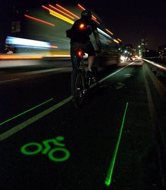 Personal Light lane for cycling