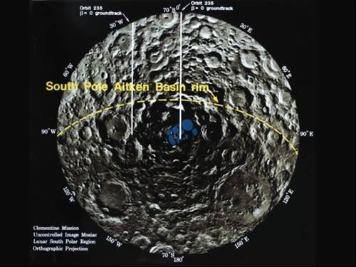 Radio waves bounced into polar craters on the moon