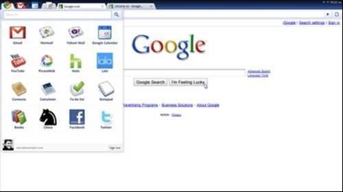 Chrome OS application menu
