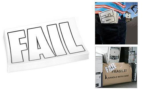 Fail stickers - saying it with style