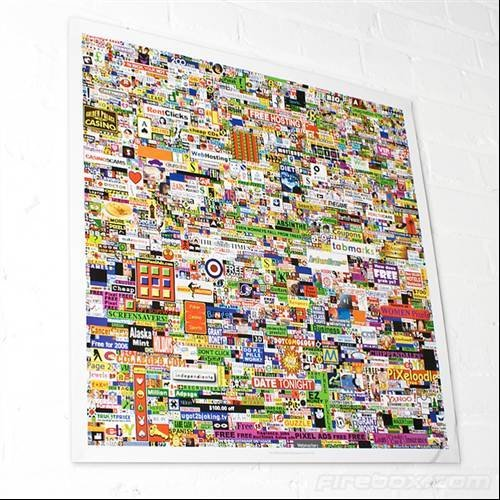 Million dollar homepage poster