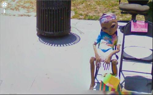 Alien - The weirdest photos on Google Street View