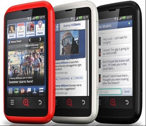 Facebook phone INQ Cloud Touch