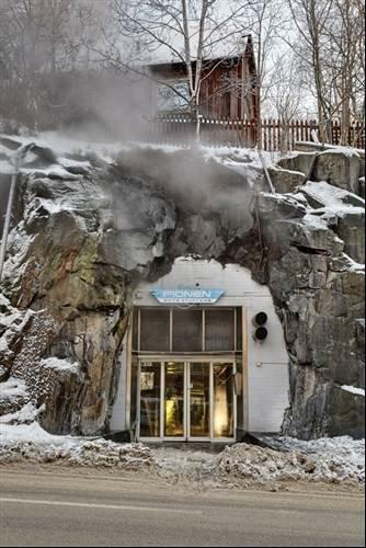 Entrance to Wikileaks Bond villain bunker