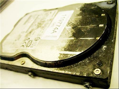 Disk drive damage - University of Southampton fire data recovery