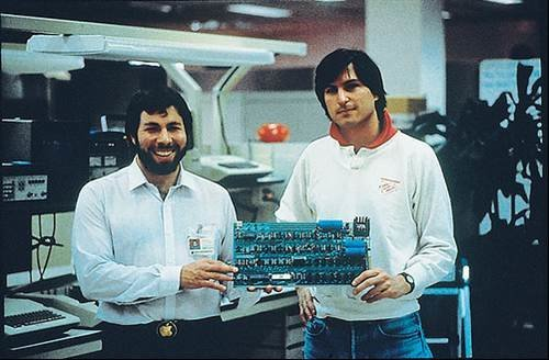 Steve Jobs and Steve Wozniak co-founders of Apple - The Steve Jobs story