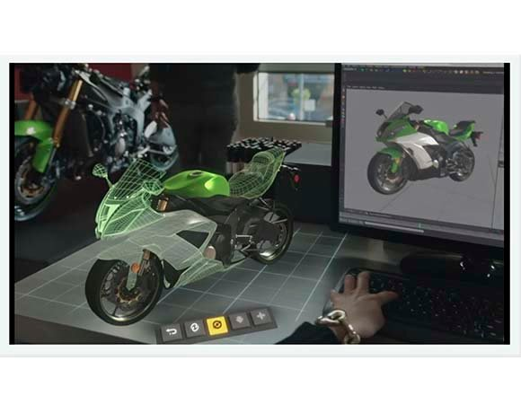 Holographic images seen through Microsoft HoloLens