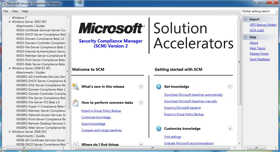 SCM v2 gui interface