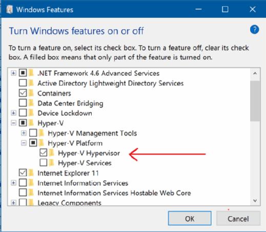 Second-level hypervisor screenshot