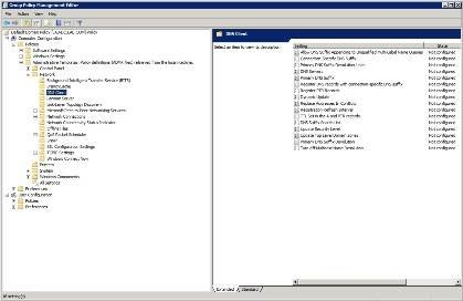 DNS devolution is controlled by Group Policy settings.