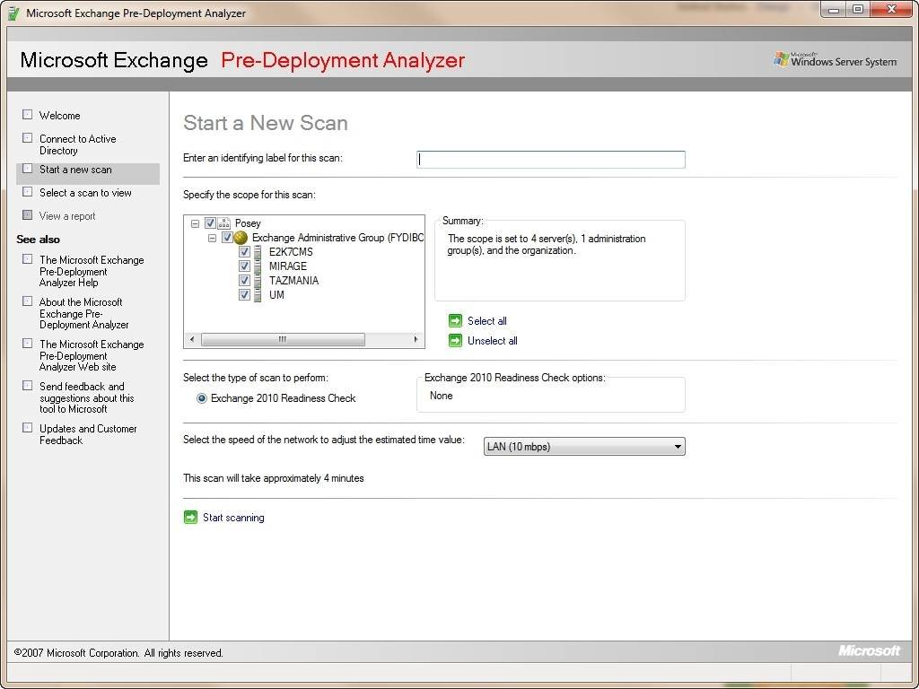 Run the Exchange Pre-Deployment Analyzer prior to migrating to Exchange 2010