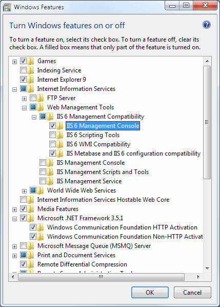 A look at the components you must enable to properly install the Exchange 2010 Management Tools