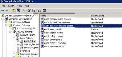 The Audit Directory Service Access GPO