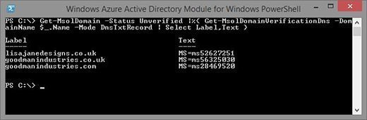 DNS validation records in PowerShell
