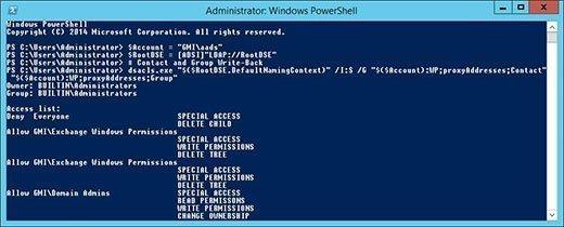 PowerShell grants Azure AD Sync write-back permissions
