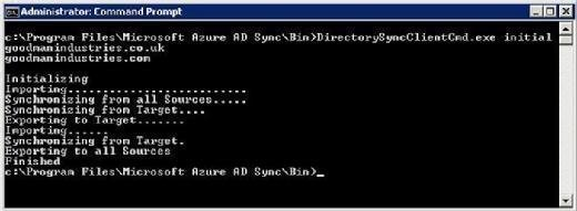 Azure AD Sync Services sync