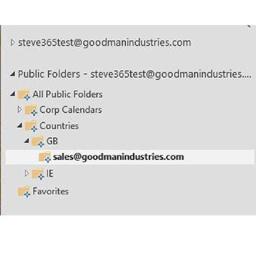 Use Office 365 Mailboxes to access on-premises Public Folders