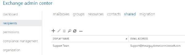 Create Office 365 shared mailbox