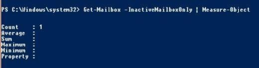 Inactive mailboxes in tenant with