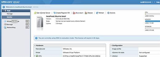 ESXi 6.5 host-based UI