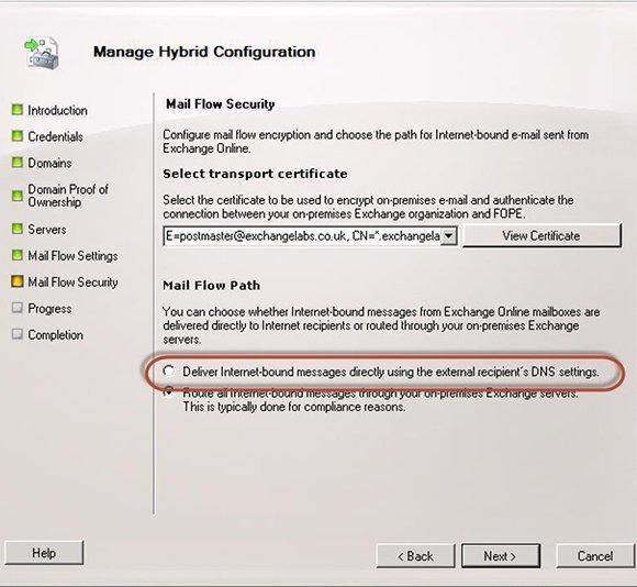 Manage Hybrid Configuration