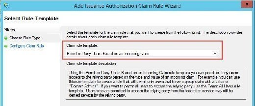 Permit or Deny Users Based on an Incoming Claim