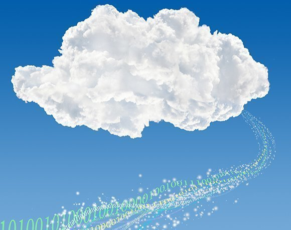 cloud with binary code