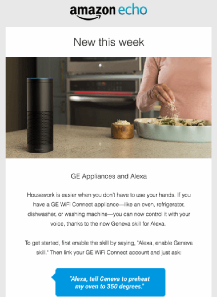 Amazon Alexa's new feature email