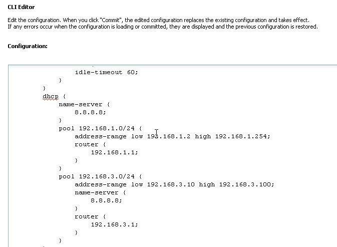 Juniper Networks' SRX CLI Editor