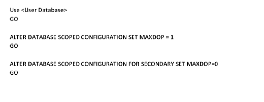 Set MAXDOP