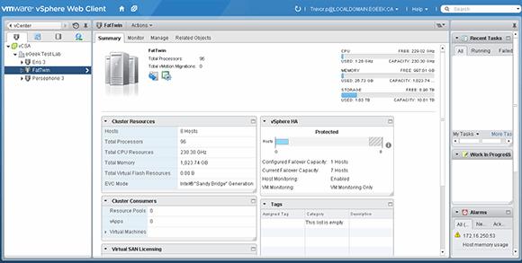 Cluttered vSphere Web Client UI
